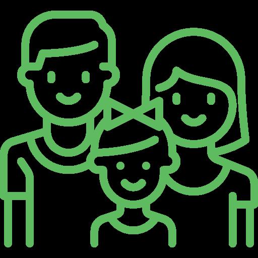 Gia đình hài lòng